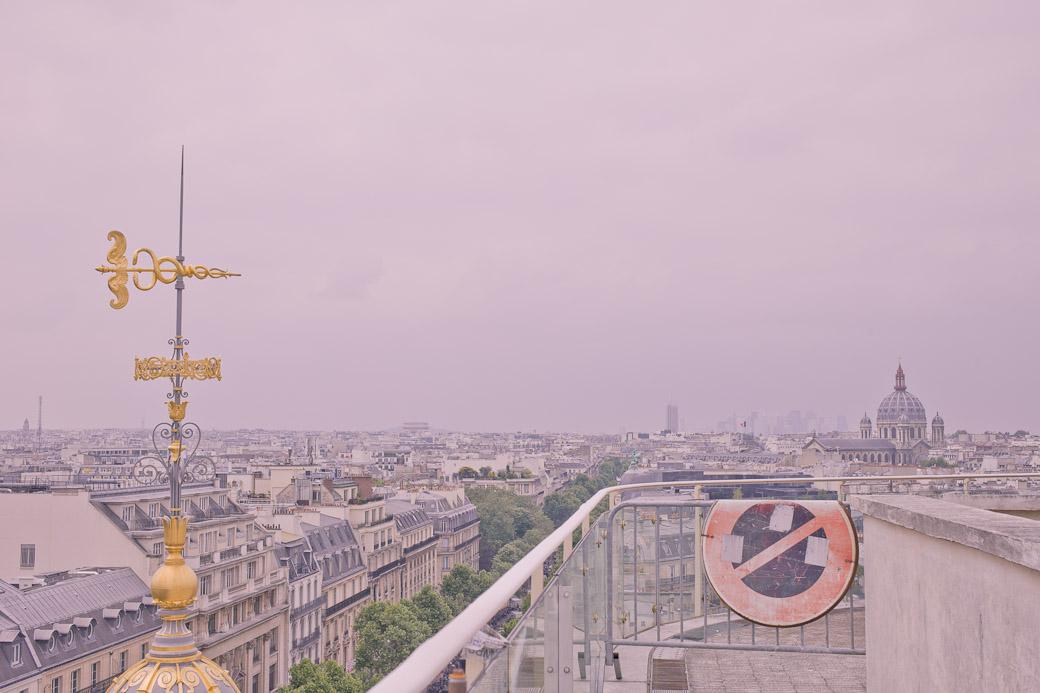 Paris vue du ciel - Boulevard Haussmann