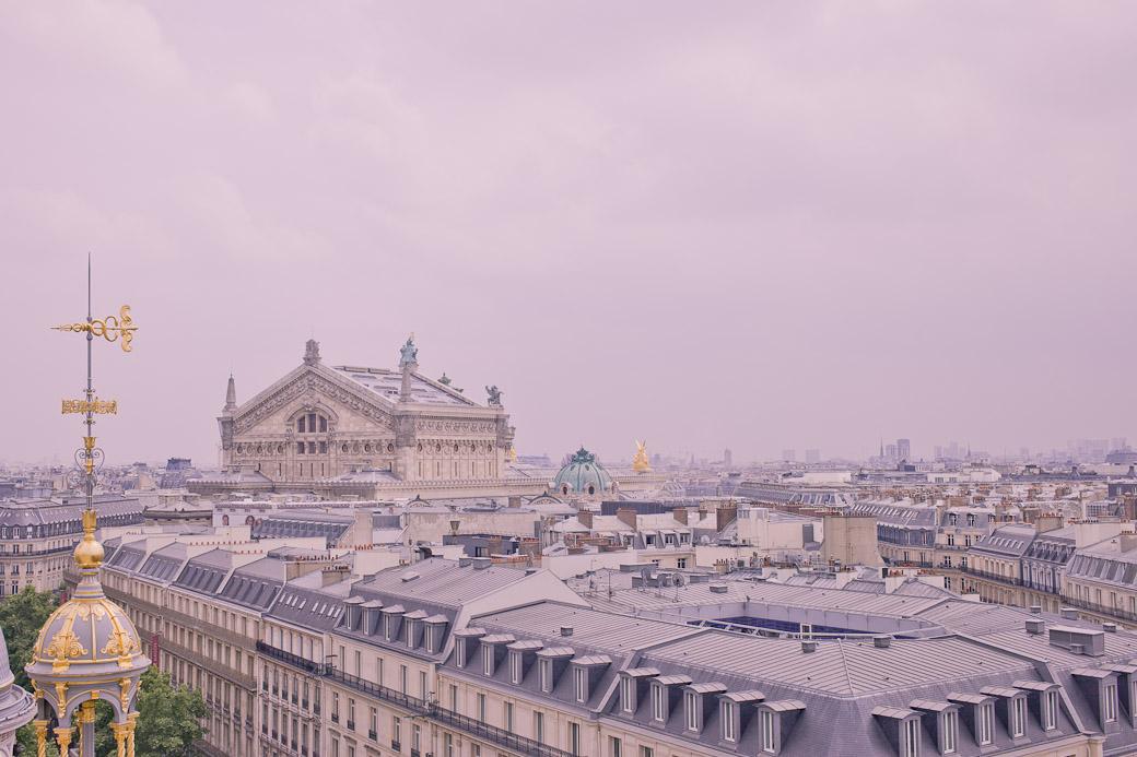 Opéra Garnier vue de la terrasse du Pintemps haussmann