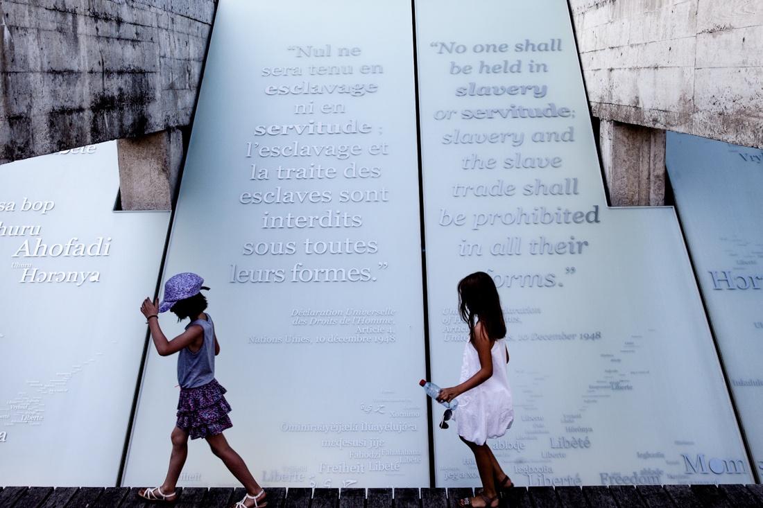 Voyage à Nantes - Memorial de l'abolition de l'esclavage