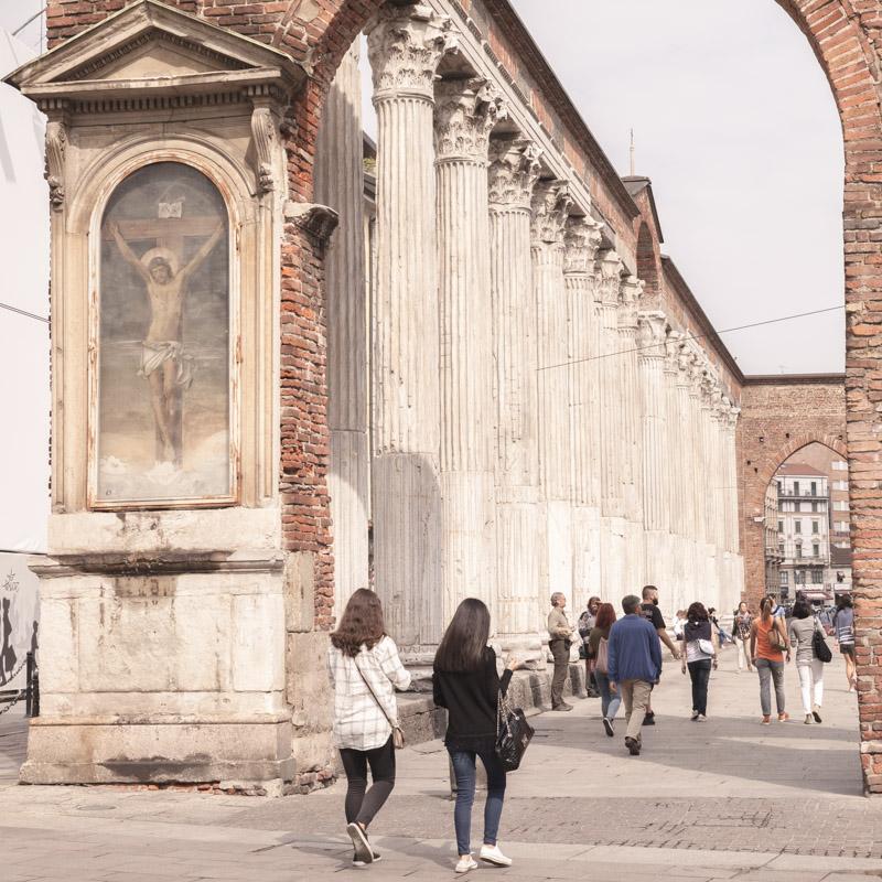 Promenade sur les colonnes san lorenzo
