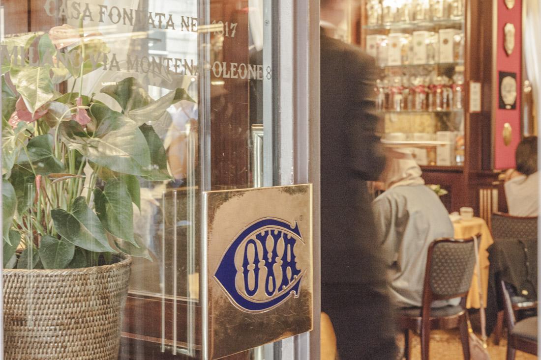 24 heures à Milan - café cova via montenapoleone
