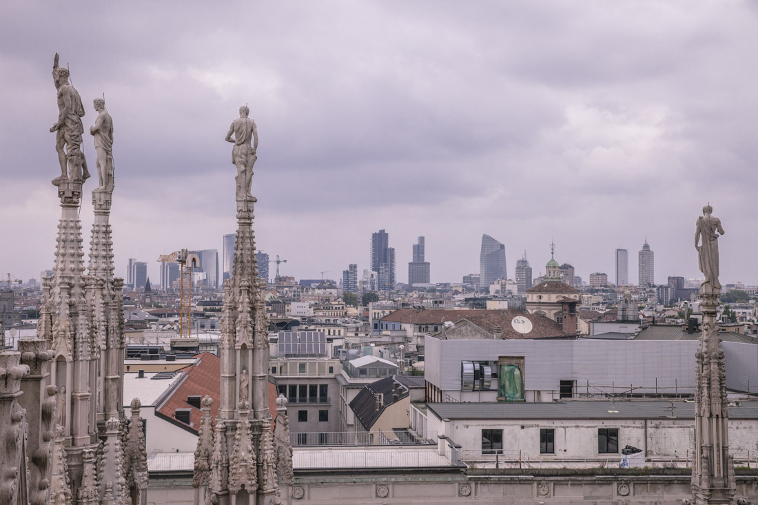 24 heures à Milan - terrasse du duomo