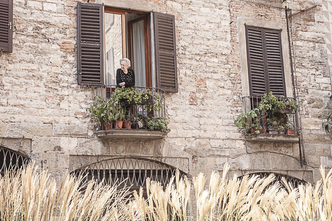 A la fenêtre - Bergame