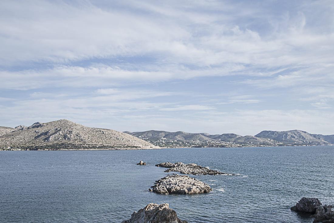 Athènes Grèce - vue sur les iles