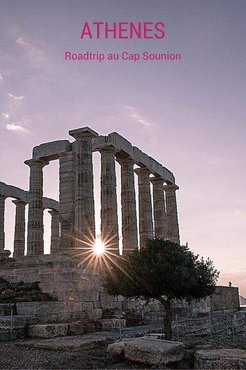 Le cap Sounion se trouve à 70 km du centre ville d'Athènes. Je conseille vivement une virée pour une demie-journée pour profiter de la route qui longe la côte, ses petites criques et finir en apothéose pour le coucher du soleil au Cap Sounion #thisisathens #athènes #grèce