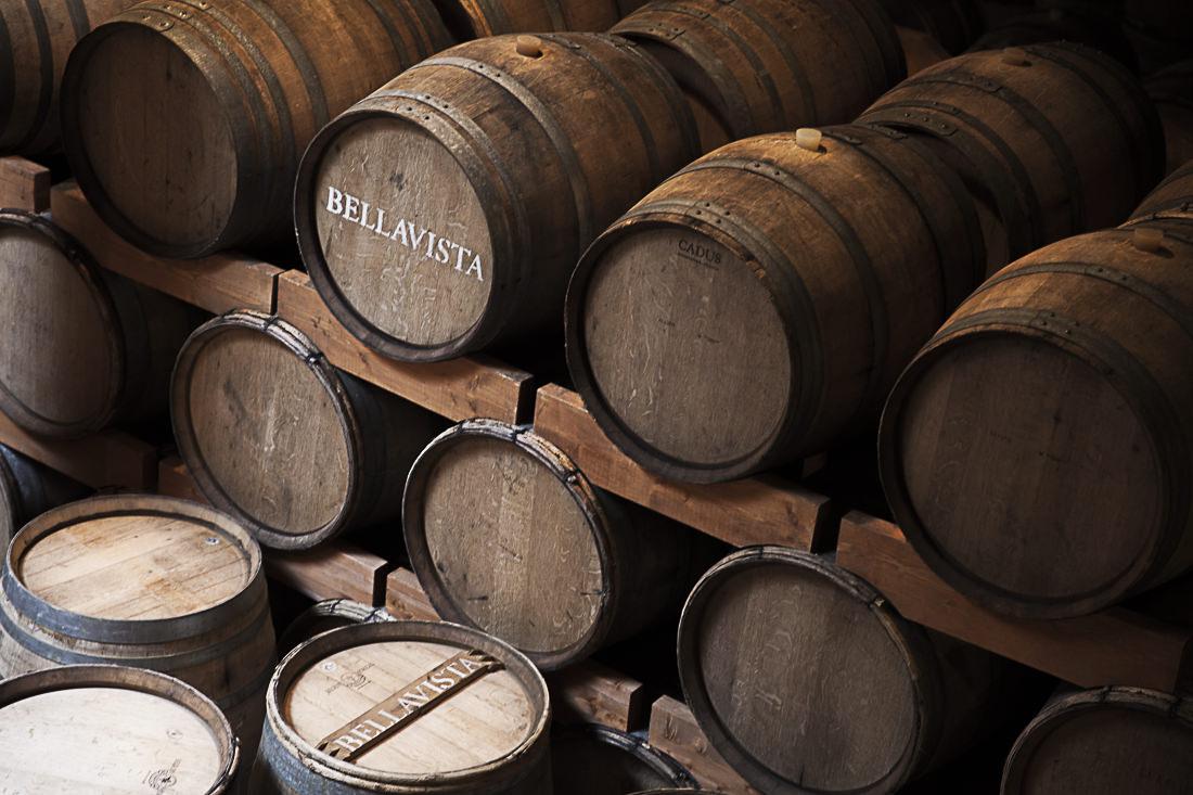 45% de la production des caves Bellavista fermente en fûts