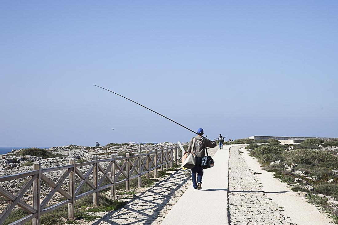 Quand les vents et les courants ne sont pas bons, les pêcheurs plient bagages. A la forteresse de Sagres