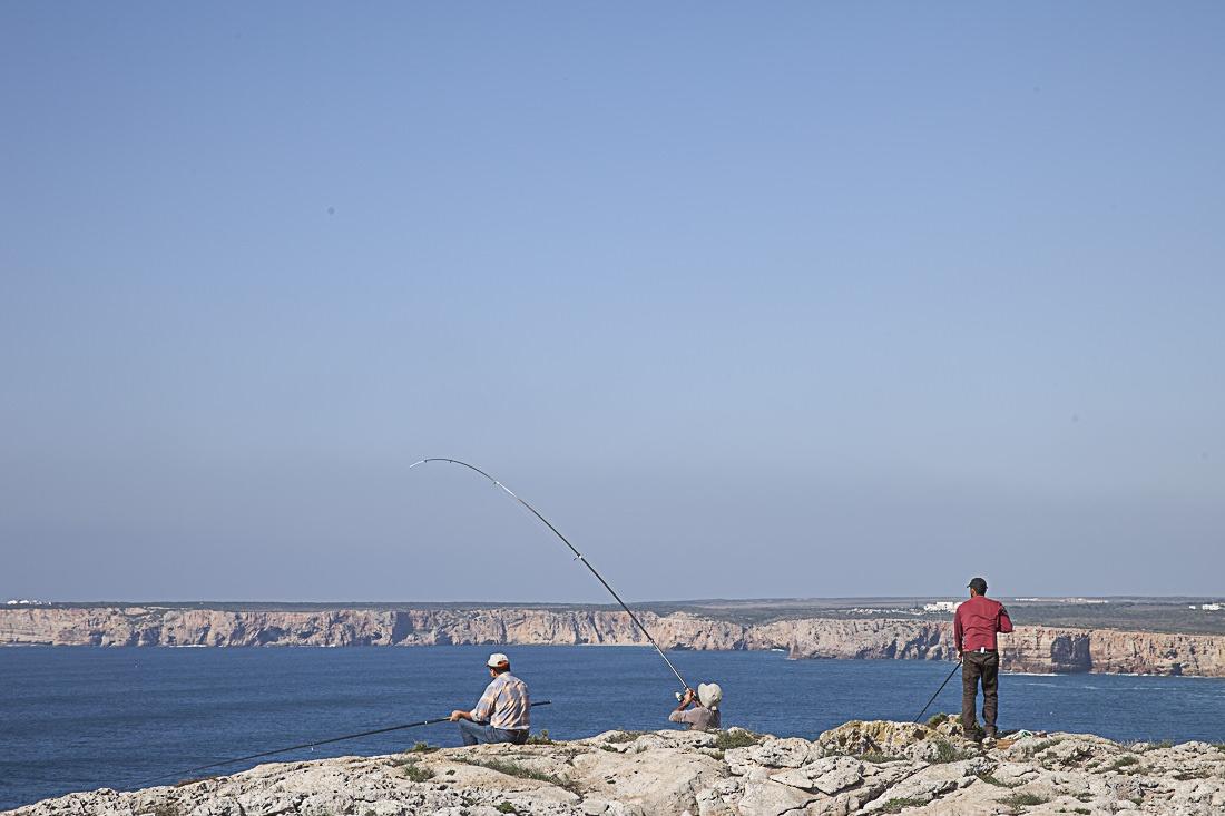 Les pêcheurs se placent à flanc de falaise et cherchent les poissons selon les courants