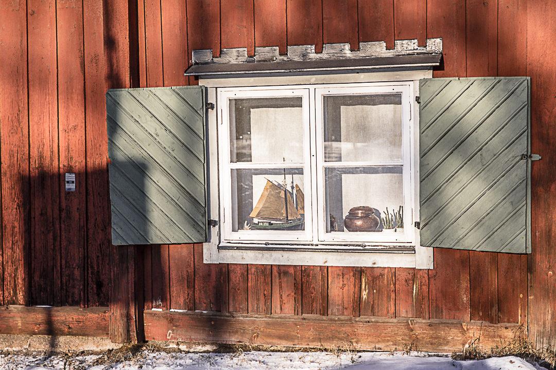 Lever de soleil sur une fenêtre de Fjallgatan