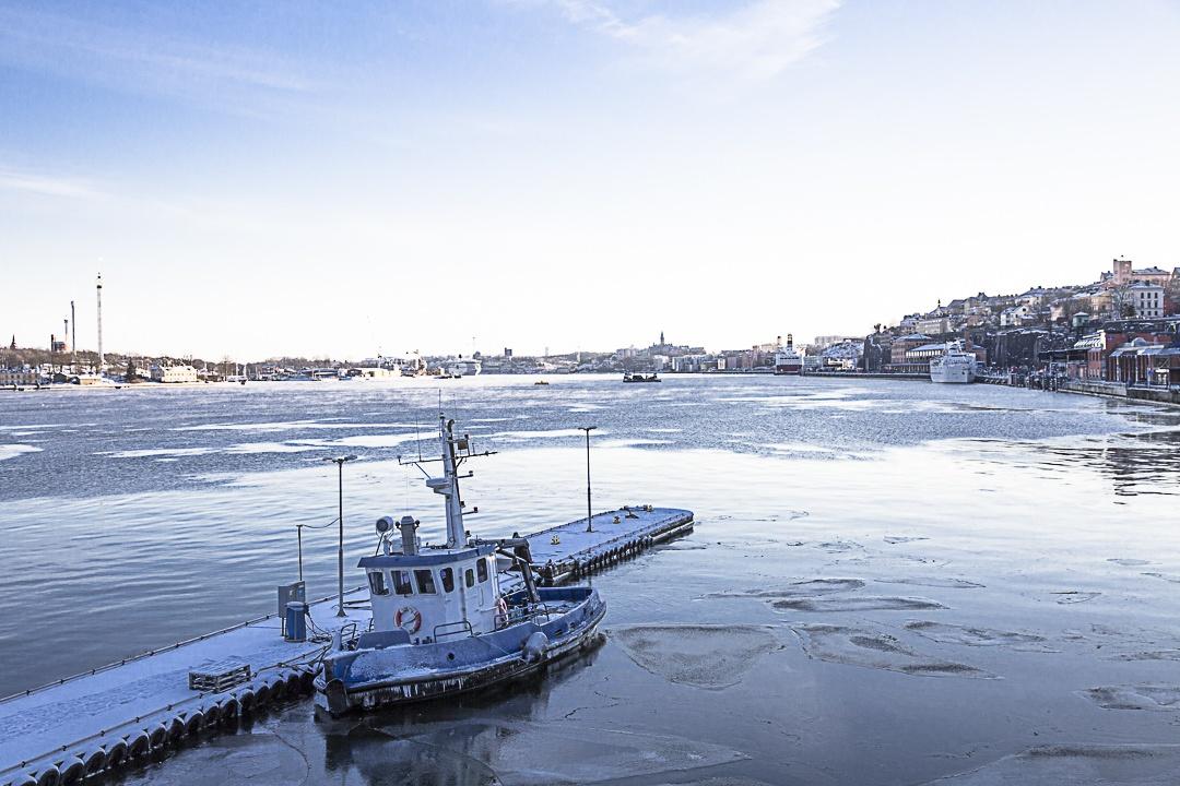 Par températures extrême, même les bateaux gèlent