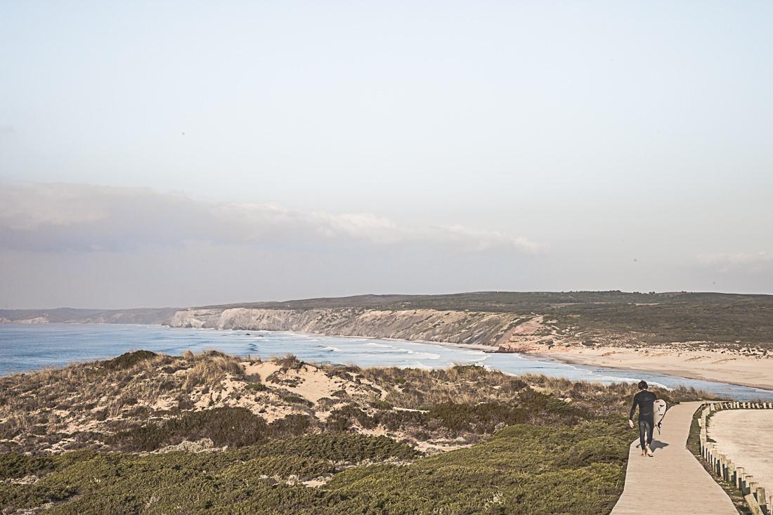 Le premier surfer croisé à Carrapateira. Il partait surfer sur la plage de Bodeira