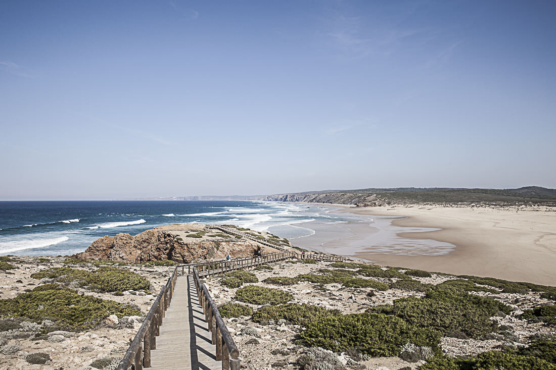 La plage de Bodeira, Algarve - Portugal