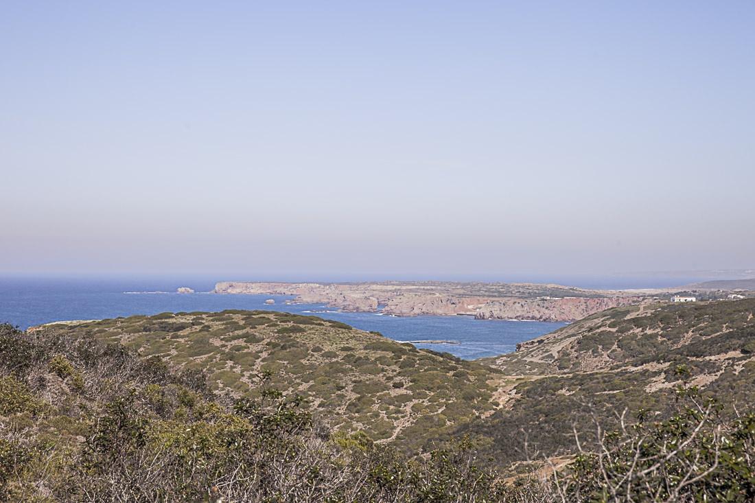 Vue à l'infini sur l'Algarve, Portugal
