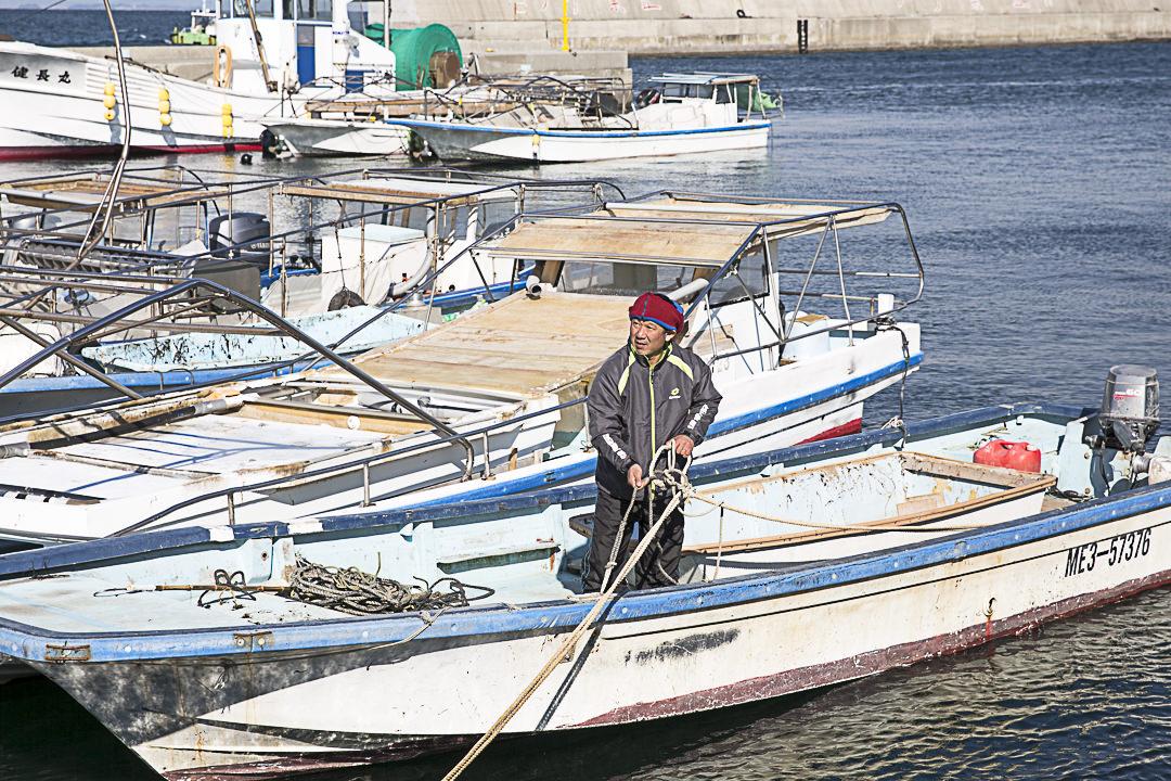 Yoshiki, en route pour la ferme d'algue