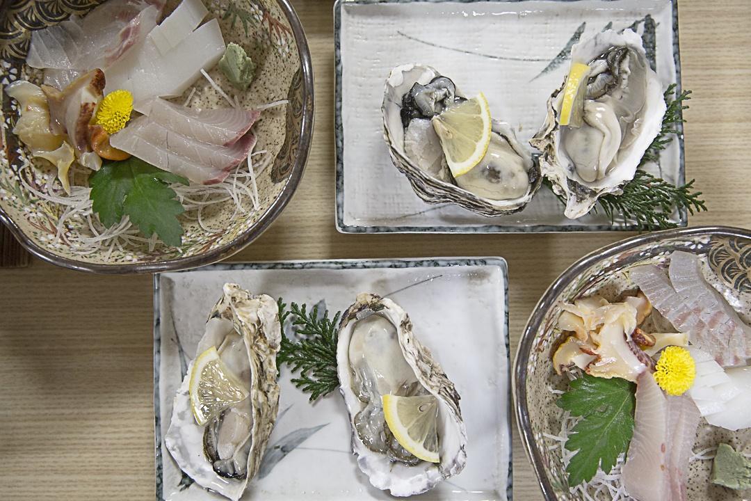 Diner copieux au Ryokan de Toshijima