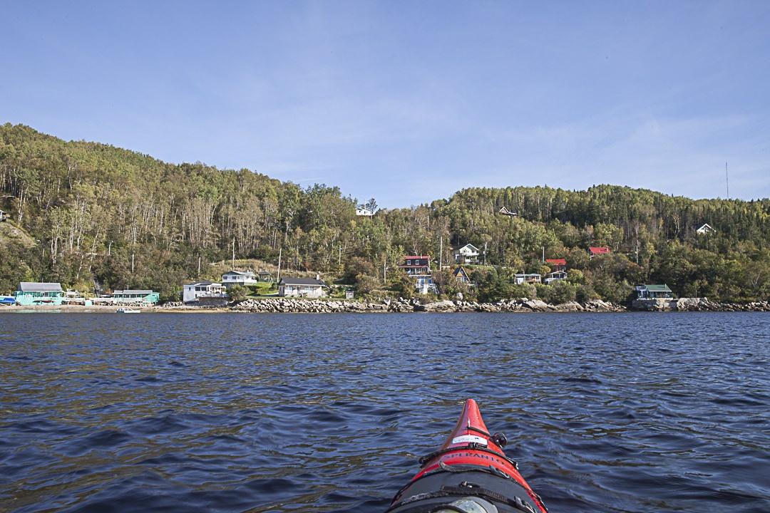 Kayak sur le parc national maritime - vue devant