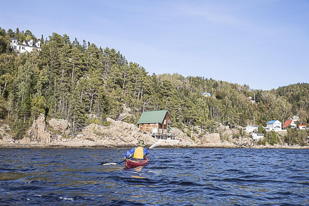 Kayak sur le parc maritime du Saguenay Saint Laurent