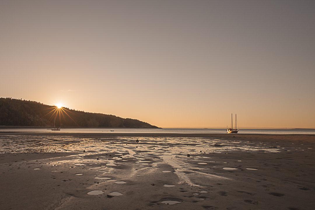 Lever de soleil sur la baie de Tadoussac