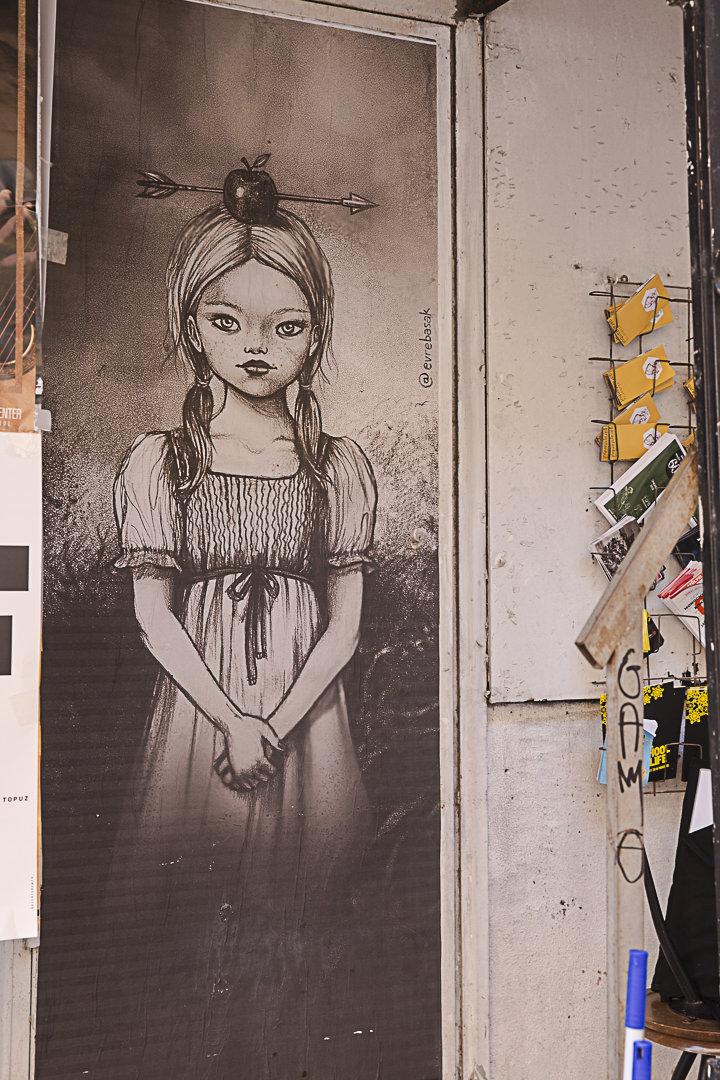 Street art à Istanbul dans le quartier de Beyoglu