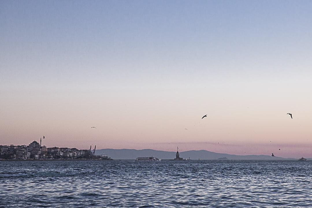 Vue sur Kiz Kulesi à Istanbul