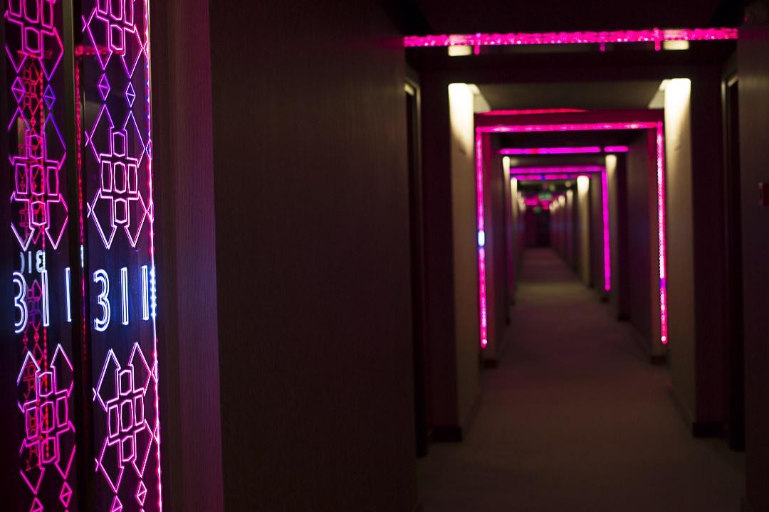Le couloir de l'hotel W Istanbul