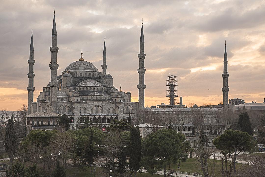 Istanbul : vue depuis Seven Hills restaurant
