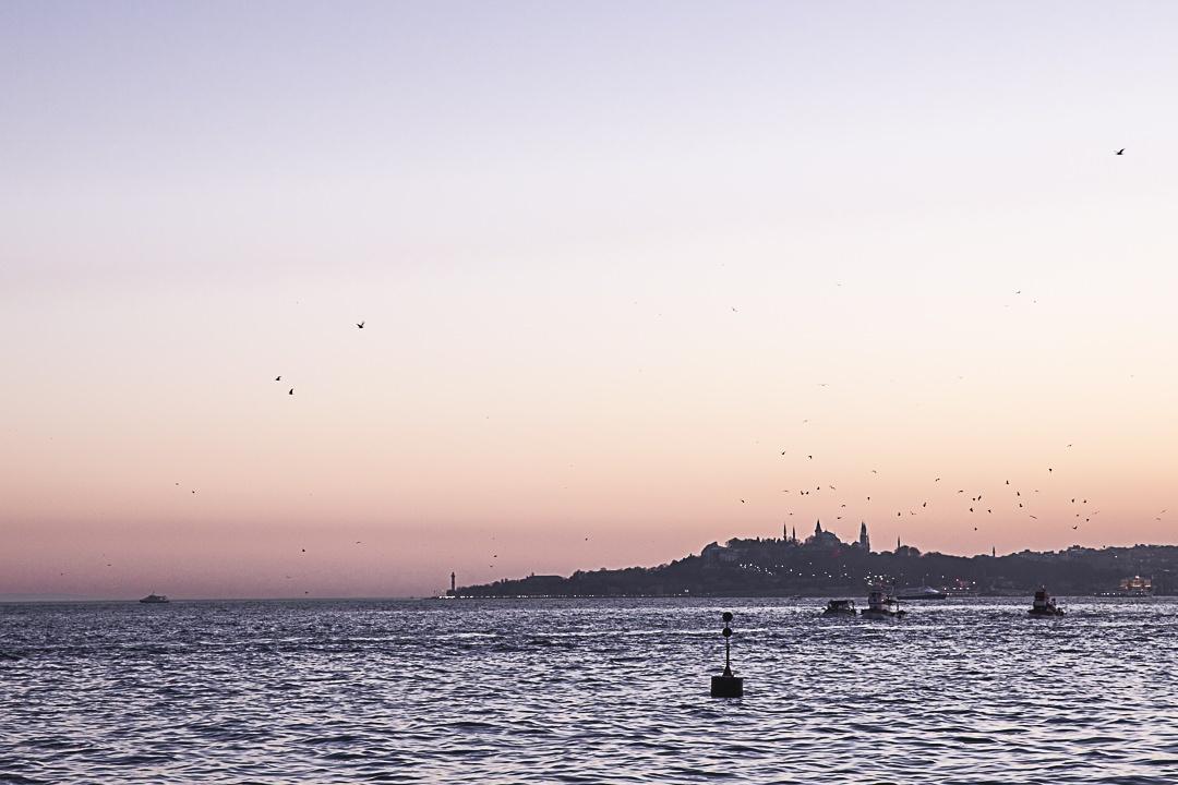 Coucher de soleil sur Sainte Sophie, Istanbul