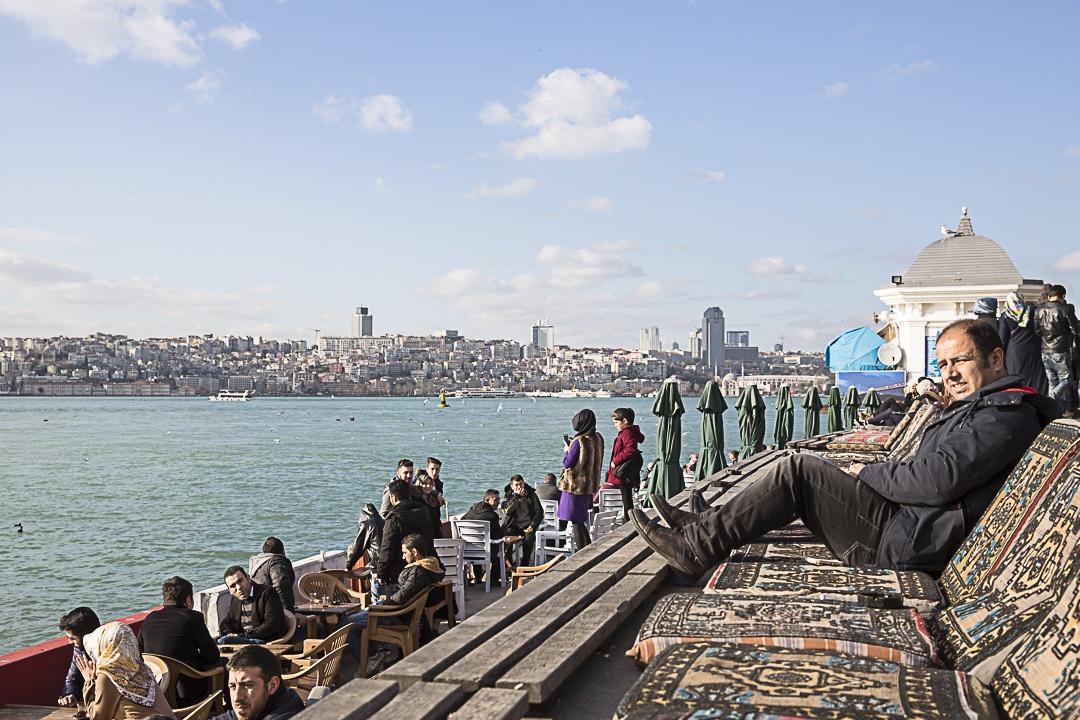 A Istanbul, sur les rives du Bosphore côté asiatique