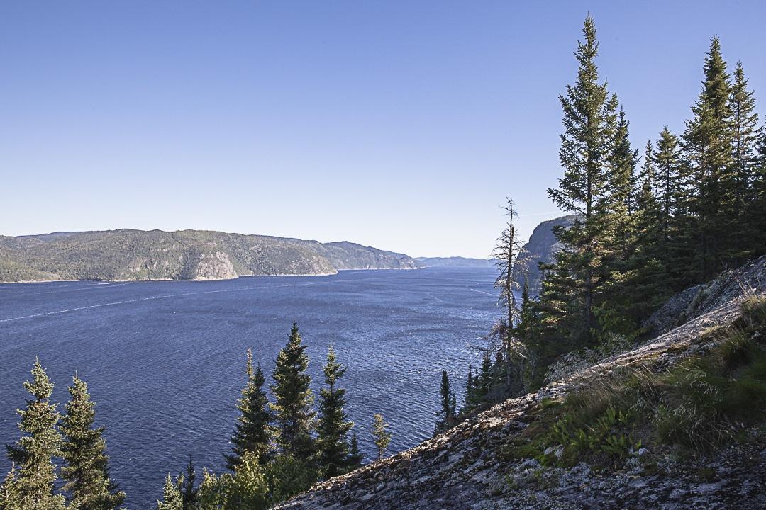 Magnifique vue depuis la statue Notre Dame du Saguenay