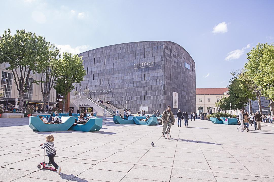 le museum quartier à Vienne