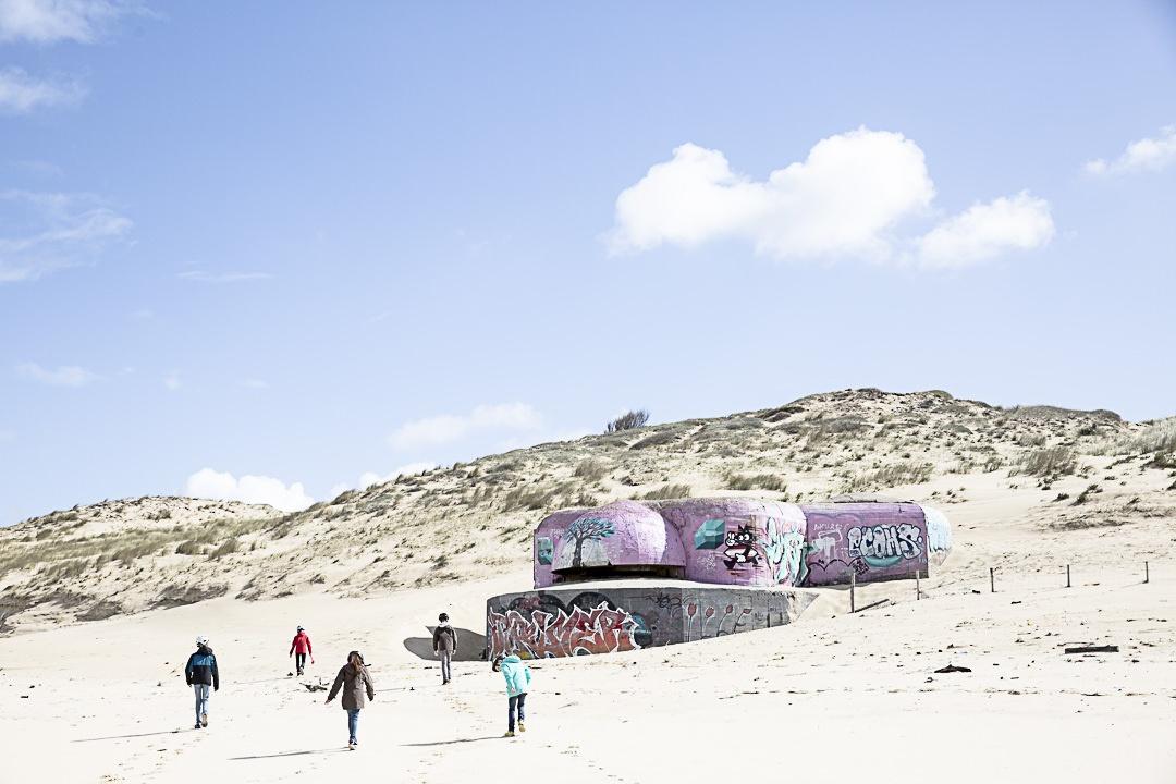 Bunker d'une plage d'Aquitaine