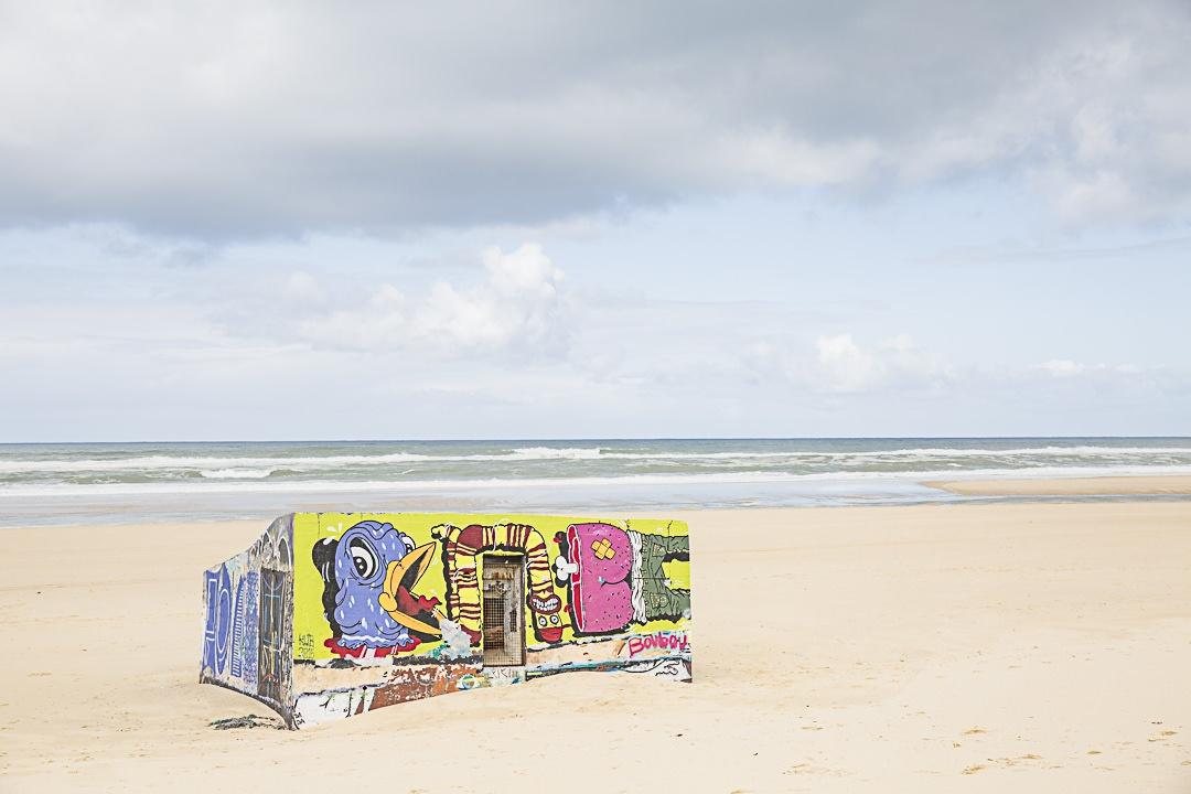 Streetart sur la plage