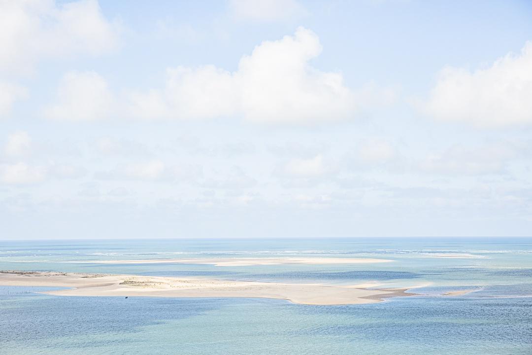 Le banc d'Arguin vu de la dune du Pyla