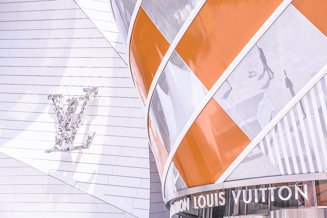L'entrée de la fondation Louis Vuitton