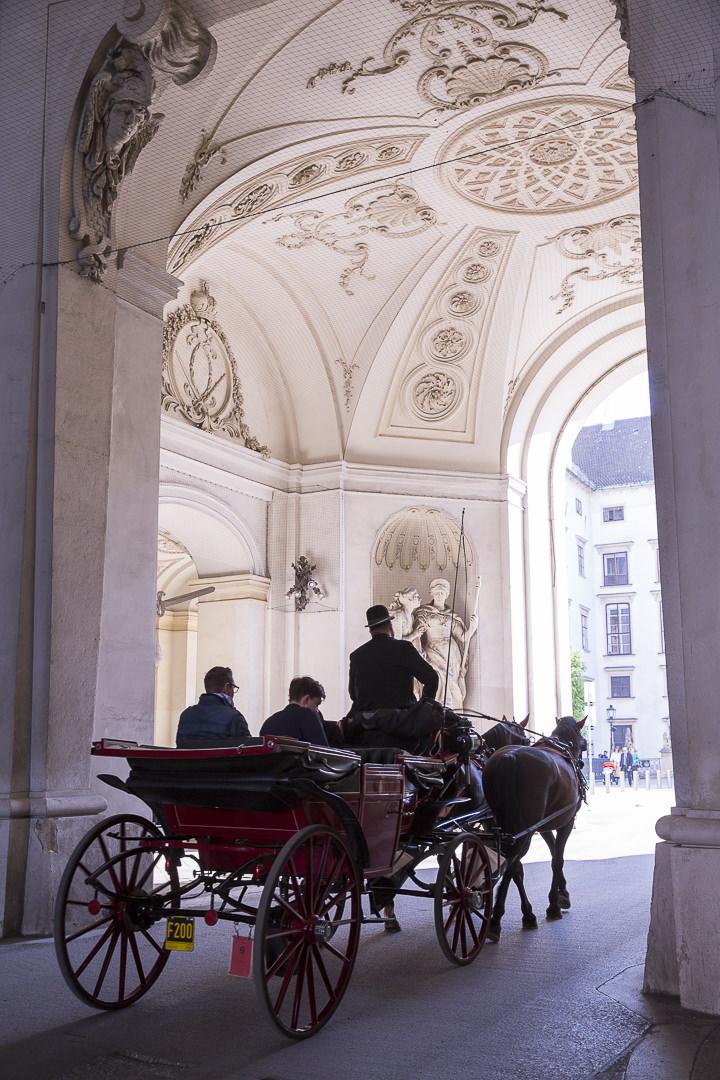 Les fameuses calèches de Vienne