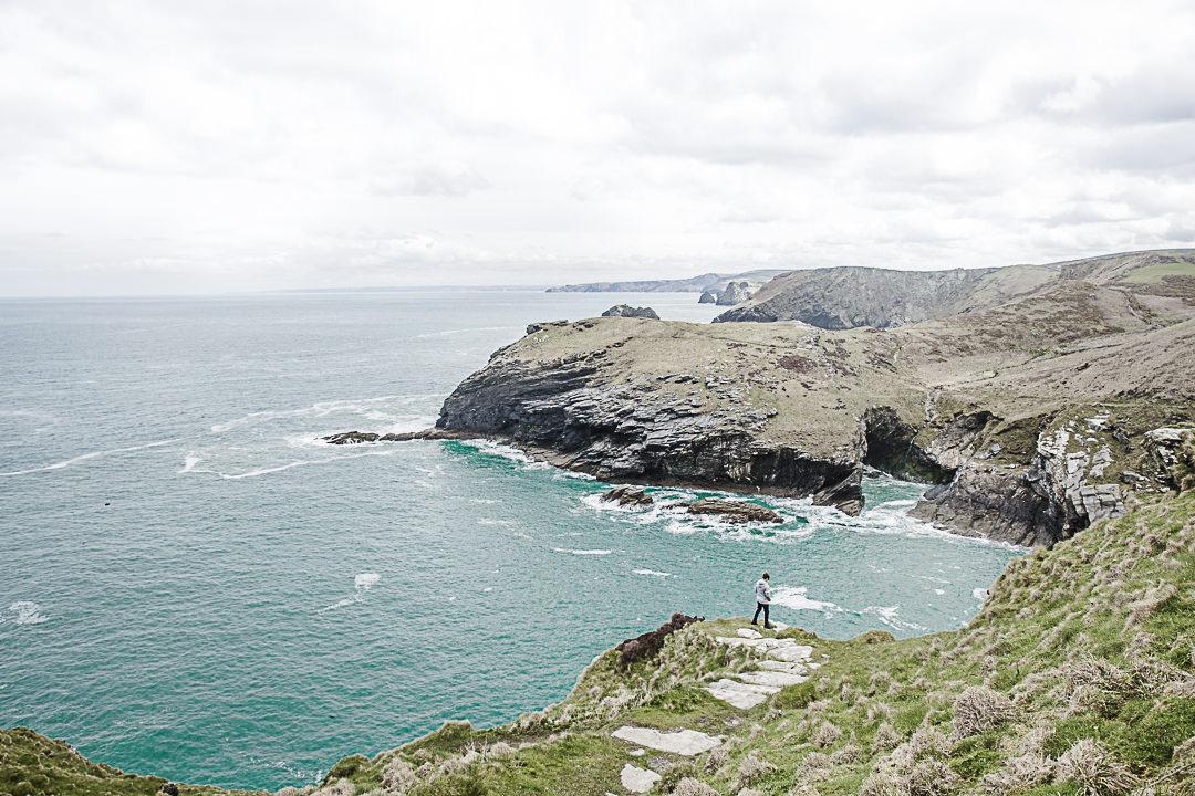 Road Trip en Cornouailles - Vue sur les falaises de Tintagel