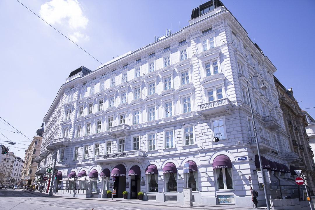 Extérieur du sans souci hotel design Vienne - autriche