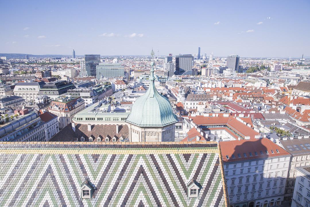 Vue depuis le haut de la cathédrale de Vienne Autriche