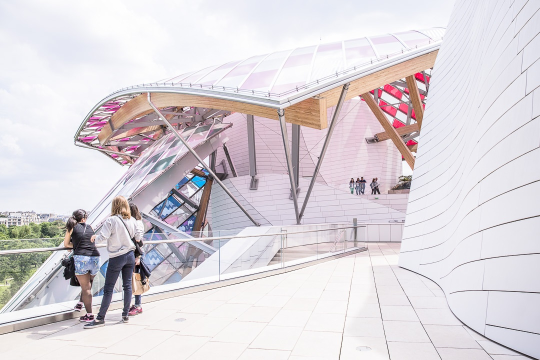 La terrasse de la fondation Louis Vuitton
