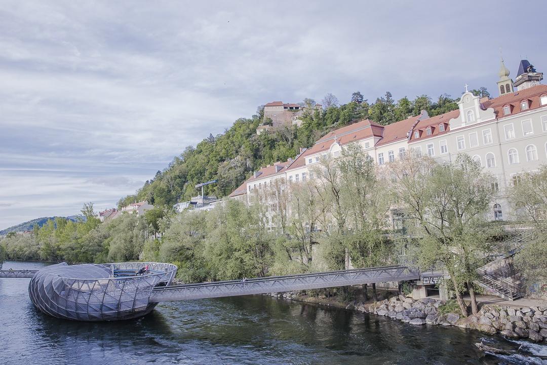 Murinsel de l'artiste Vito Acconci coup de coeur à Graz
