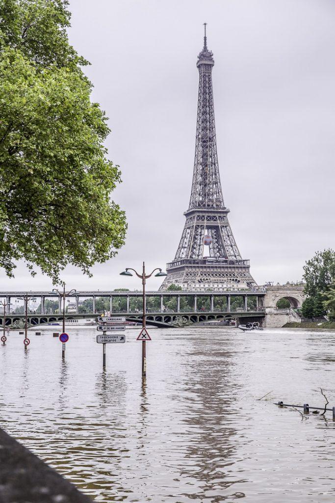 Inondations de Paris Juin 2016 - voies sur berge