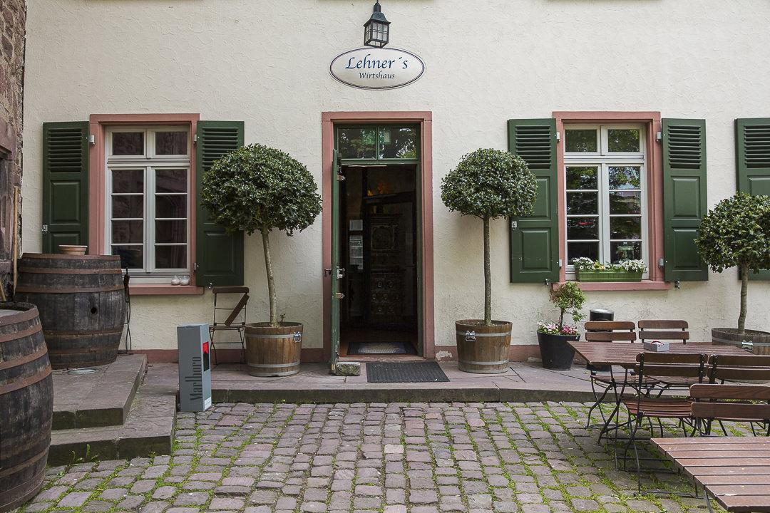 L'entrée de la brasserie Lehners wirtshaus