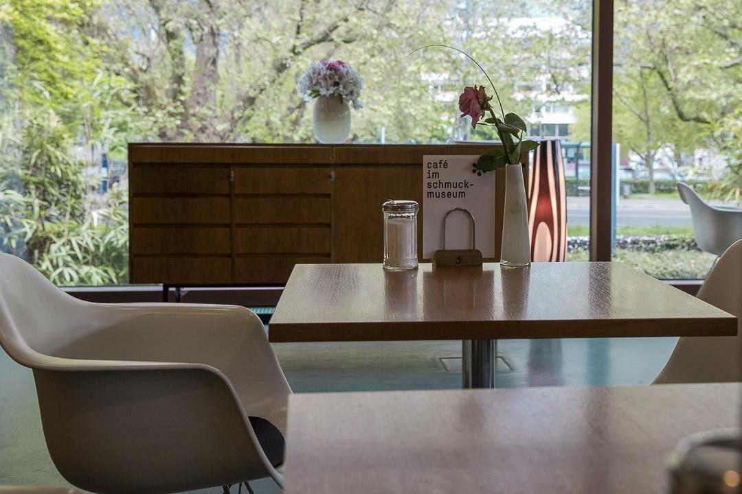 Le café du musée de joaillerie à Pforzheim pour une petite pause après la visite