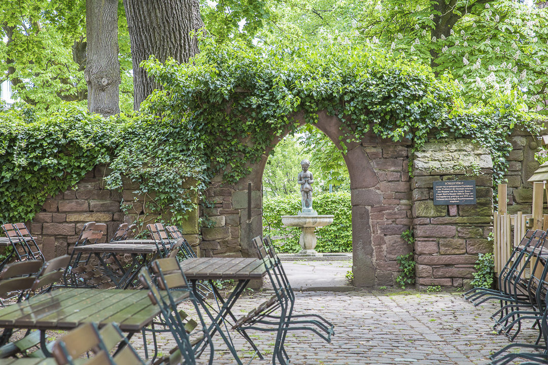 Joli jardin de bière au coeur de Pforzheim