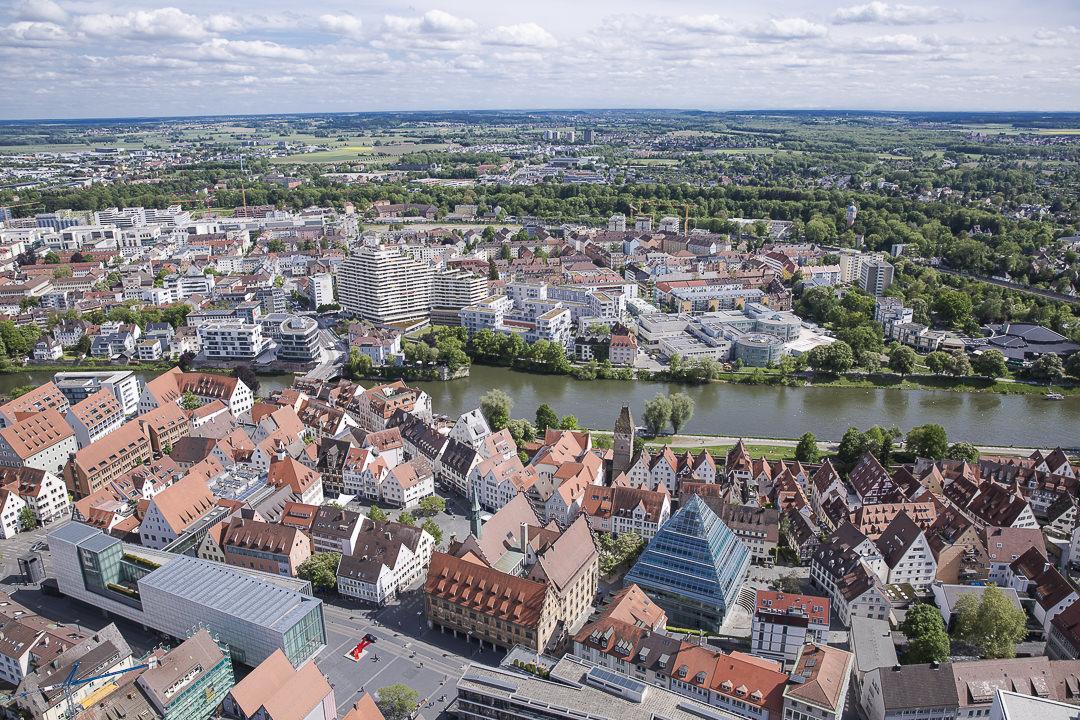 Ulm ce mélange d'architecture ancienne et moderne