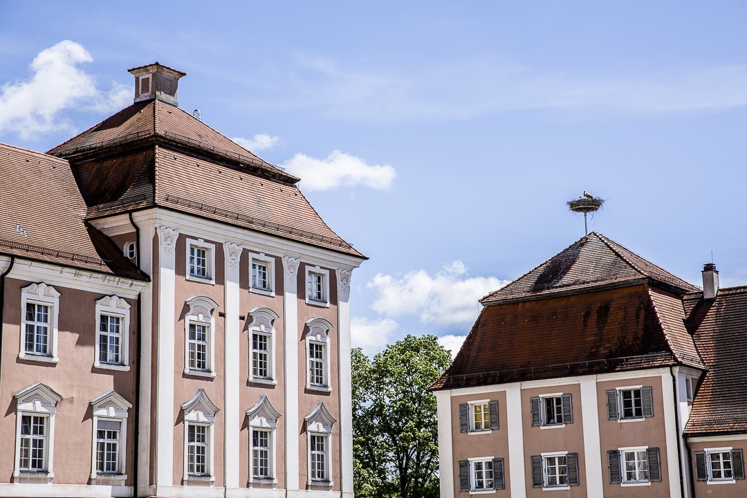 la cigogne de l'abbaye de Wiblingen à Ulm - Allemagne
