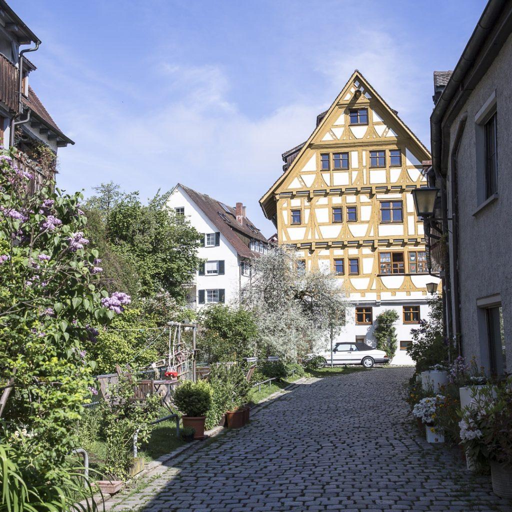 Rue fleurie de Ulm - Allemagne