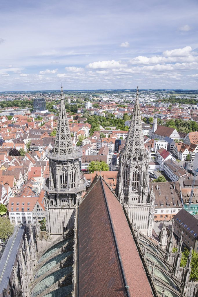 Vue depuis le haut de l'église de Ulm - Allemagne