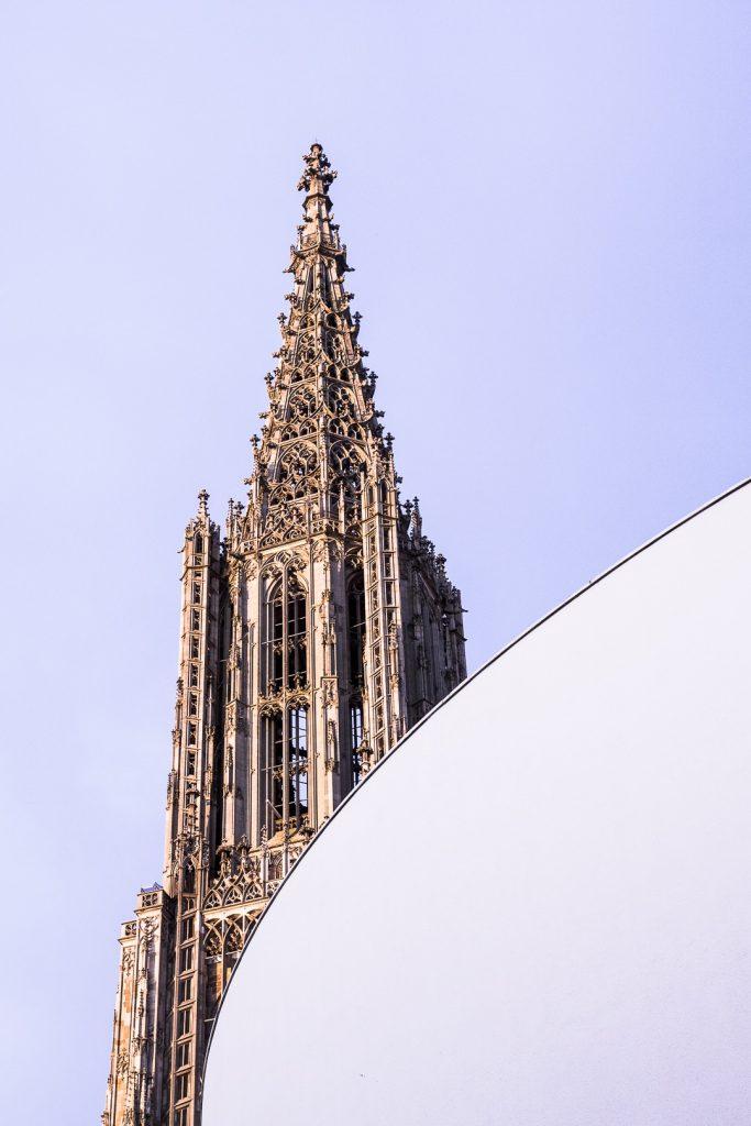 Vue sur la flèche de la cathédrale de Ulm - Bade-Wurtemberg Allemagne