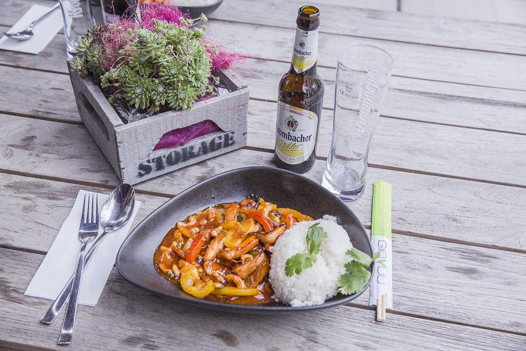 Déjeuner en terrasse au gin yuu stuttgart